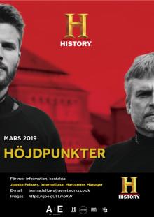 HISTORY höjdpunkter, mars 2019