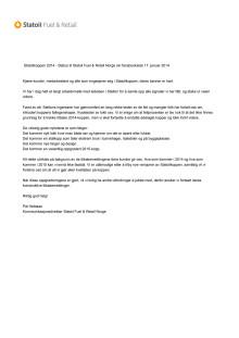 Statoilkoppen 2014 Statusrapport til kundene 170114