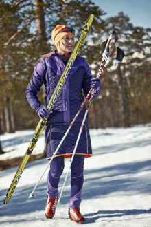 The skirt that merges cross-country skiing with street fashion