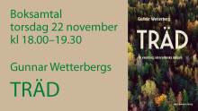 Boksamtal 22 november: Träd – en vandring i den svenska skogen