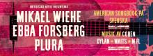 Mikael Wiehe, Plura Jonsson och Ebba Forsberg tolkar den amerikanska låtskatten på gemensam turné