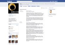 Onico - nu också på Facebook