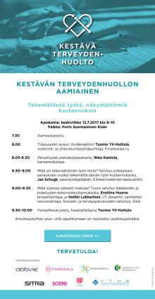 KUTSU 12.7. Kestävä Terveydenhuolto -hanke SuomiAreenalla: Tekemätön työ, näkymätön kustannus