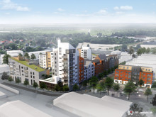Växjö kommun prövar möjligheterna för 170 bostäder och 800 parkeringsplatser i kvarteret Fabriken