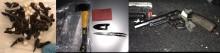 Violent Crime Taskforce seize knives, drugs and gun