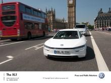 XL1-citement hits London as Volkswagen's 313 mpg car makes UK debut
