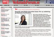 Verkstadsforum skriver om System Verifications satsning inom Business Consulting