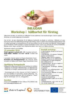 Inbjudan workshop i hållbart för företag