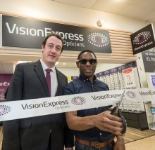 Local Paralympic legend joins Vision Express to officially open its new optical store at Tesco in Solihull