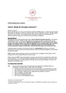 MMM:s pressmeddelande om resultaten av mamma-enkäten 2011, svenska