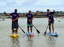Jersey residents take on a paddle boarding challenge for the Stroke Association