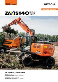 broschyr hjulgrävare ZX140W-6
