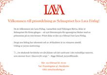Välkommen till prisutdelning av Selmapriset hos Lava Förlag