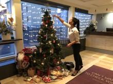 Ensam julgran på Quality Hotel Panorama söker klappar