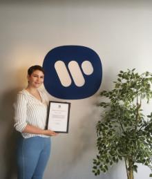 Stipendium utdelas under initiativet Warner Future Talent