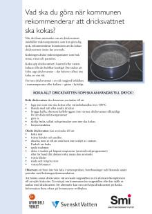 Faktablad kokning av dricksvatten