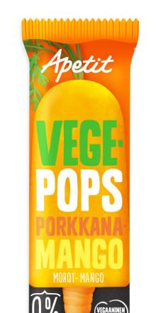 Uusi kotimainen jäätelöinnovaatio Apetit Vegepops tuo kasvistrendin jäätelöaltaisiin