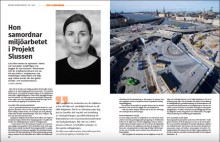 Dagens Infrastruktur intervjuar Lina Werneman om hennes roll i projekt Slussen