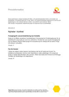 Hälso- och sjukvårdsnämndens pressinfo 2014-05-23