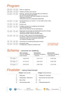 Program Nationella Inspirationsdagen 27 mars 2012