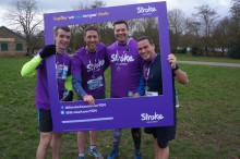 ​Derby runners race to fundraising success for the Stroke Association