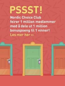 Nordic Choice Club feirer 1 million medlemmer med stor konkurranse