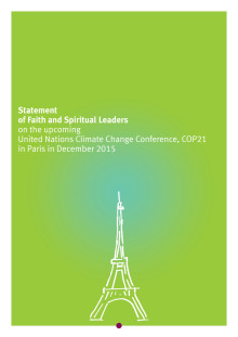 Statement of Faith and Spiritual Leaders on the upcoming United Nations Climate Change Conference, COP21 in Paris in December 2015