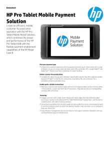HP Pro Tablet Mobile Payment Solution Dataark