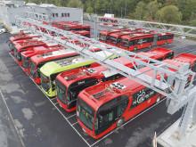 CO2 utslipp reduseres kraftig med 115 nye elbusser