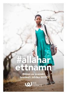 #allaharettnamn - bilden av svenskt bistånd 2016