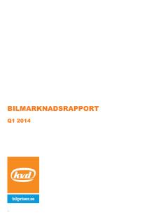 KVD Bilprisers bilmarknadsrapport
