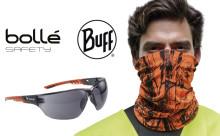 Tehokkaaseen UV-suojaukseen ulkotyössä: BUFF Professional -tuubipäähineet ja Bollé Safety -suojalasit