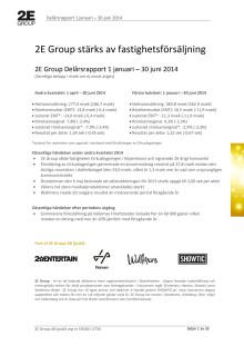Delårsrapport januari - juni 2014