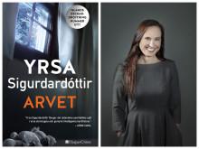 Islands deckardrottning Yrsa Sigurdardóttir besöker Stockholm  i samband med lanseringen av internationellt hyllade Arvet