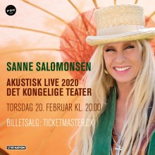 Oplev Sanne Salomonsen i Det Kongelige Teater til februar