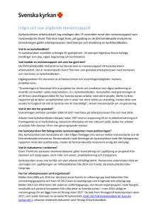 Frågor och svar angående revisionsrapporten
