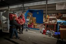 Coronapandemin begränsar insamlingen till second hand på återvinningscentralen