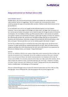 Bakgrundsmaterial om Multipel skleros