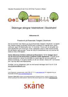 Inbjudan till Presslunch på Rosendals Trädgård