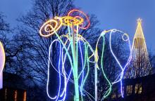 Studenters ljusskulpturer bidrar till Julstaden Göteborg