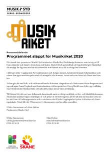Nio nya musikupplevelser i Musikriket 2020