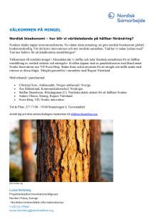Inbjudan mingel bioekonomi- grön omställning