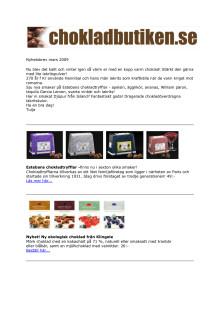 Nyhetsbrev mars 2009 från Chokladbutiken.se & Lakritsbutiken.se