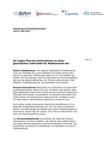 2017-05-09 Gemeinsame Verbände-PM Sicherheit von Arzneimitteln