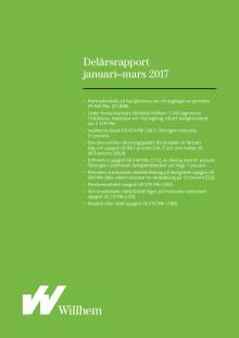 Willhems delårsrapport januari-mars 2017