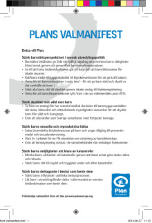 Plan Sveriges valmanifest