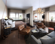 Scandic presenterar sitt första färdiga rum på signaturhotellet Downtown Camper
