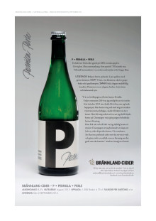 Brännland Cider P - Produktblad