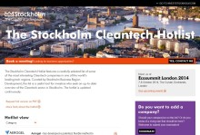 New Hotlist will attract Cleantech investments to Stockholm