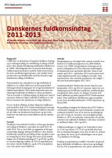 Danskernes fuldkornsindtag 2011-2013